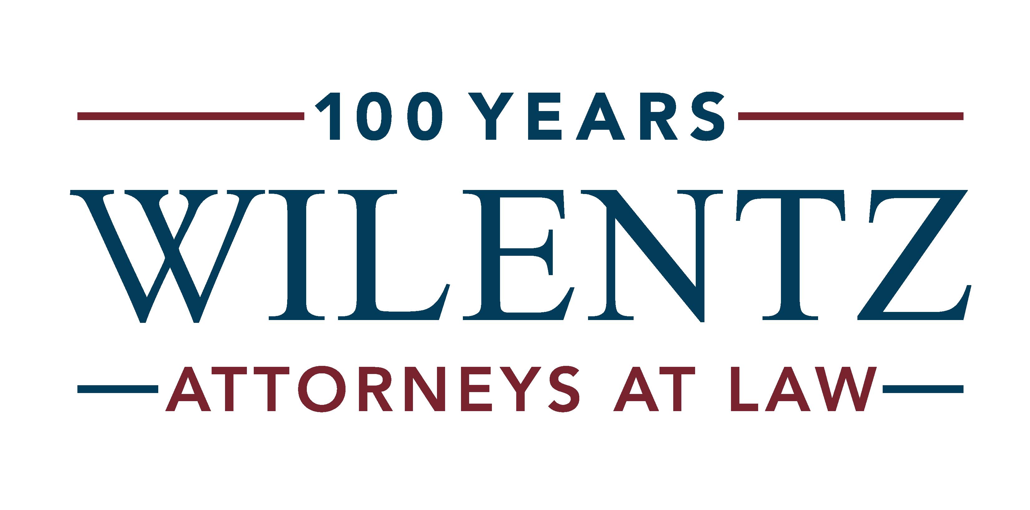 Wilentz 100 year anniversary logo